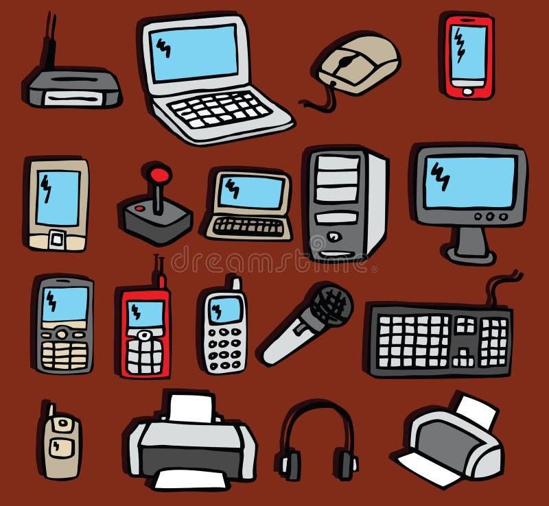 Icônes - l'électronique illustration libre de droits
