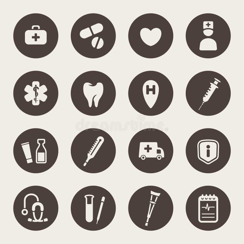 Icônes médicales illustration stock