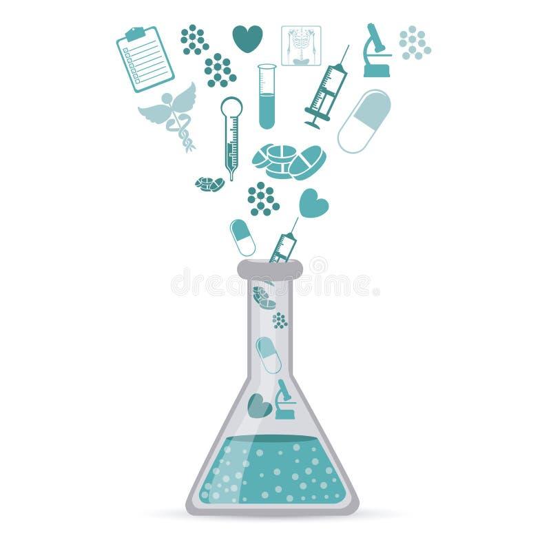 Icônes médicales illustration libre de droits