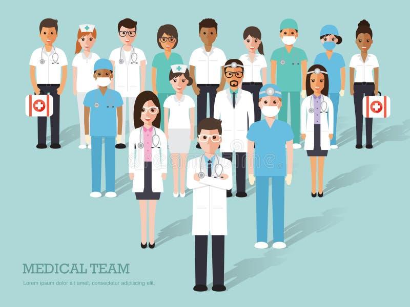 Icônes médicales et d'hôpital illustration stock