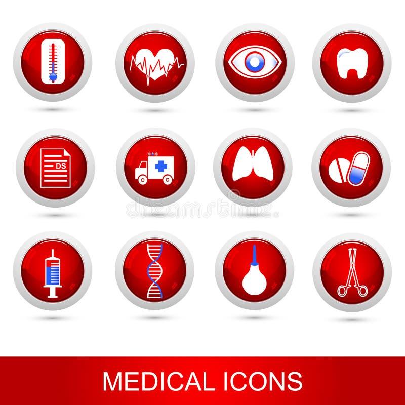 Icônes médicales réglées illustration de vecteur