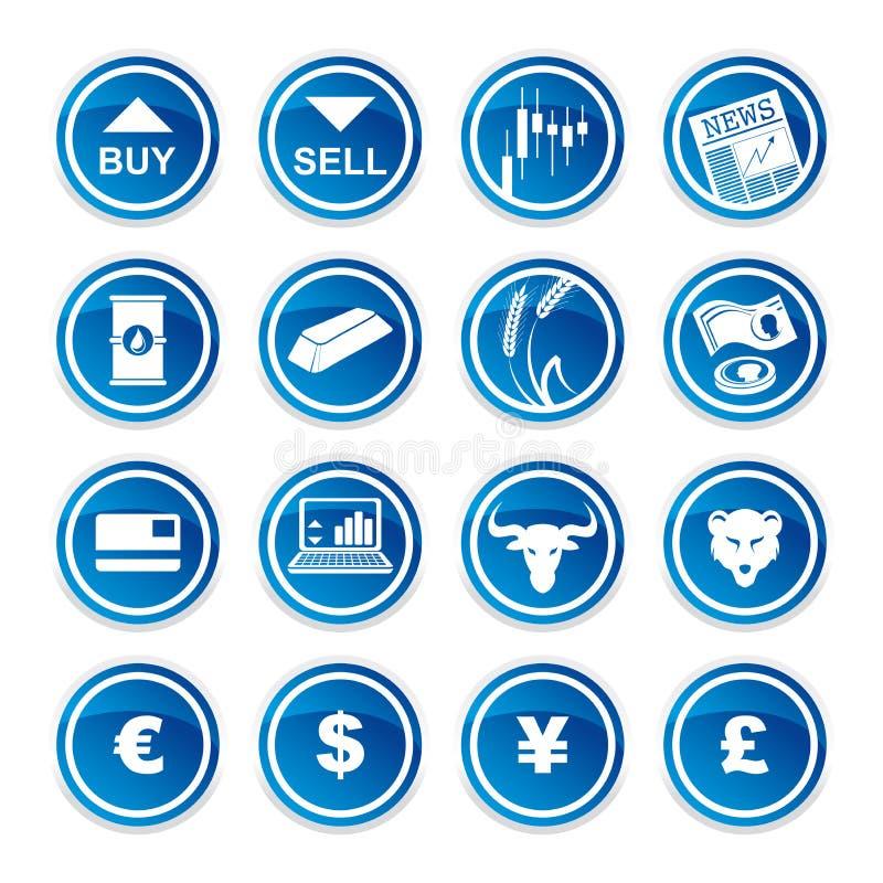 Icônes marchandes réglées illustration de vecteur