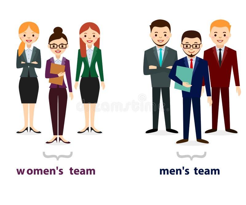 Icônes masculines et femelles de personnes Collection plate d'icônes de personnes Ensemble de gens d'affaires d'isolement sur le  illustration libre de droits
