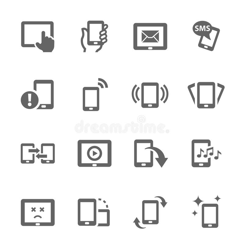 Icônes mobiles illustration stock