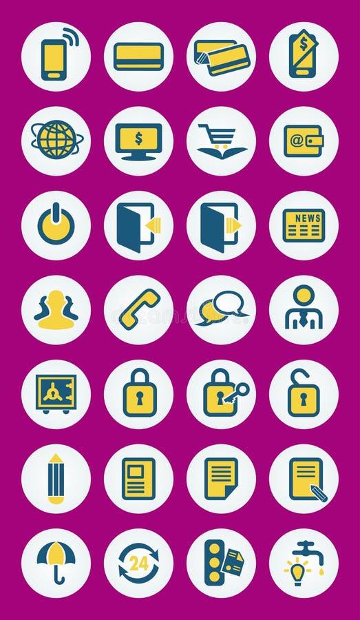Icônes mobiles de vecteur d'infographics illustration libre de droits