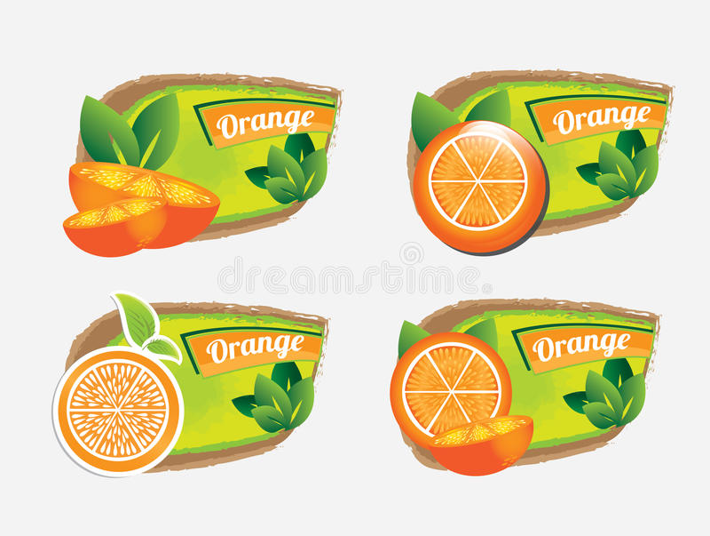 Icônes oranges de conception illustration stock