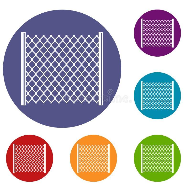 Icônes perforées de porte réglées illustration de vecteur