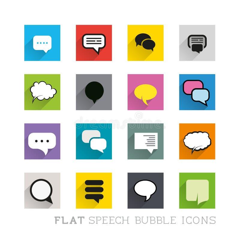Icônes plates - bulles de la parole illustration de vecteur