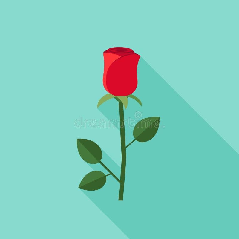 Icônes plates de Rose illustration de vecteur