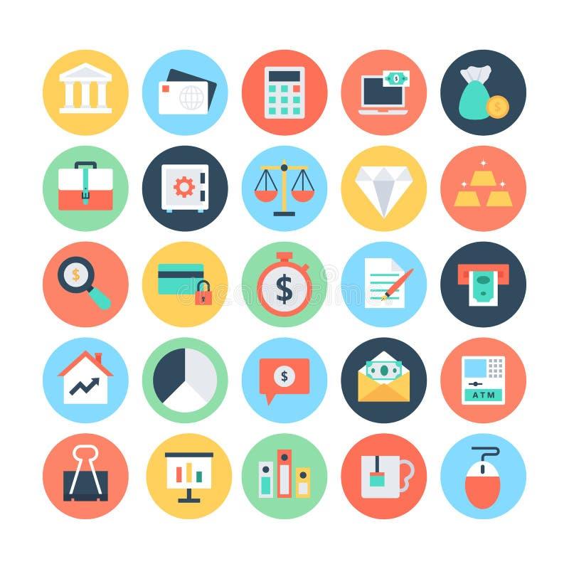 Icônes plates 1 de vecteur de finances illustration libre de droits