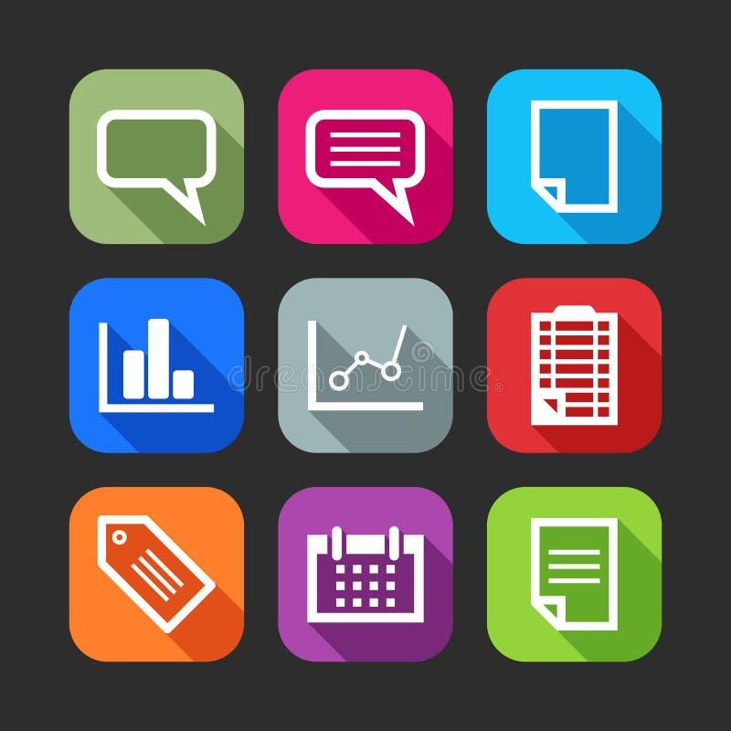 Icônes plates pour le Web et les applications mobiles illustration de vecteur