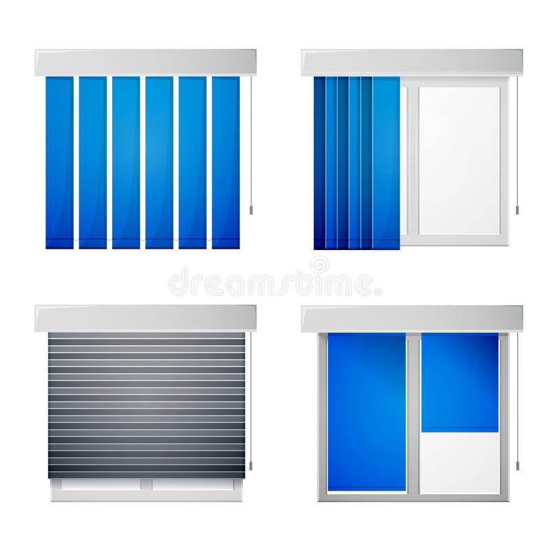 Icônes pour des auvents de fenêtre illustration stock