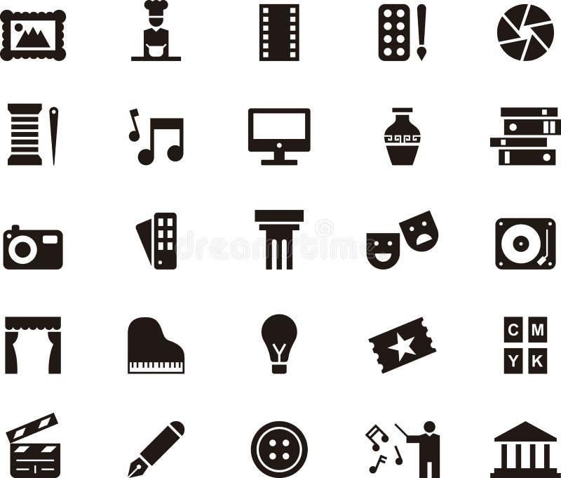 Icônes pour les arts illustration stock
