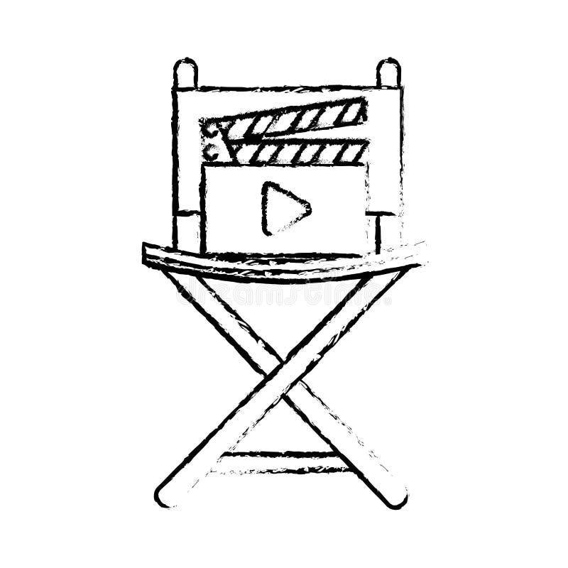 Icônes réglées de divertissement de film illustration stock