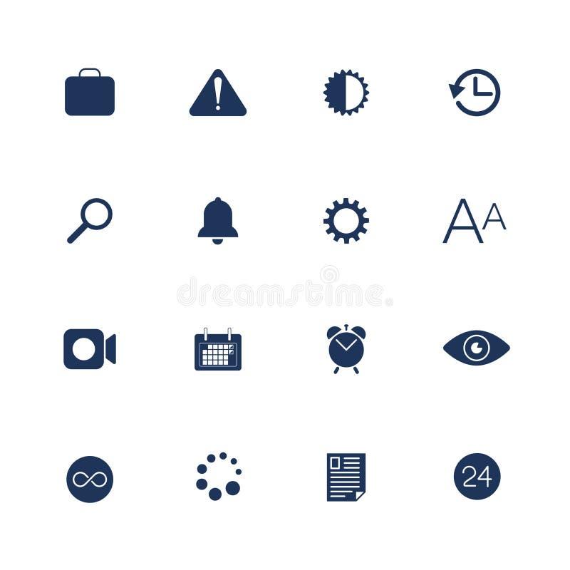 Ic?nes simples d'UI pour l'APP, sites, programmes Diff?rentes ic?nes d'UI Pictogrammes simples sur le fond blanc illustration libre de droits