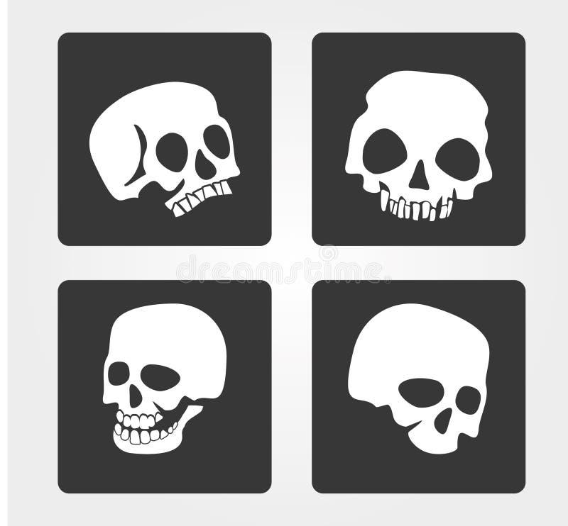Icônes simples de Web : crâne image libre de droits