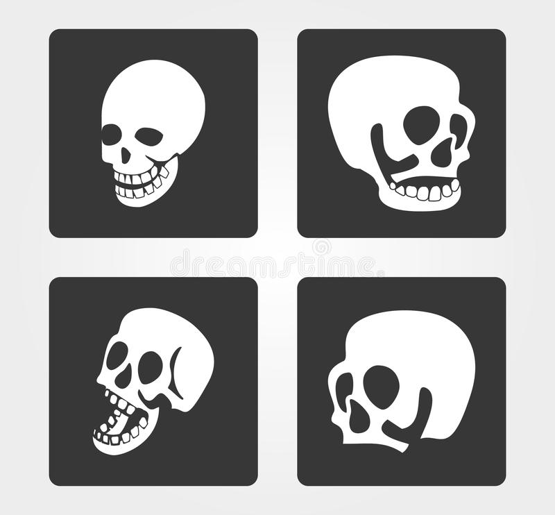 Icônes simples de Web : crâne photos stock