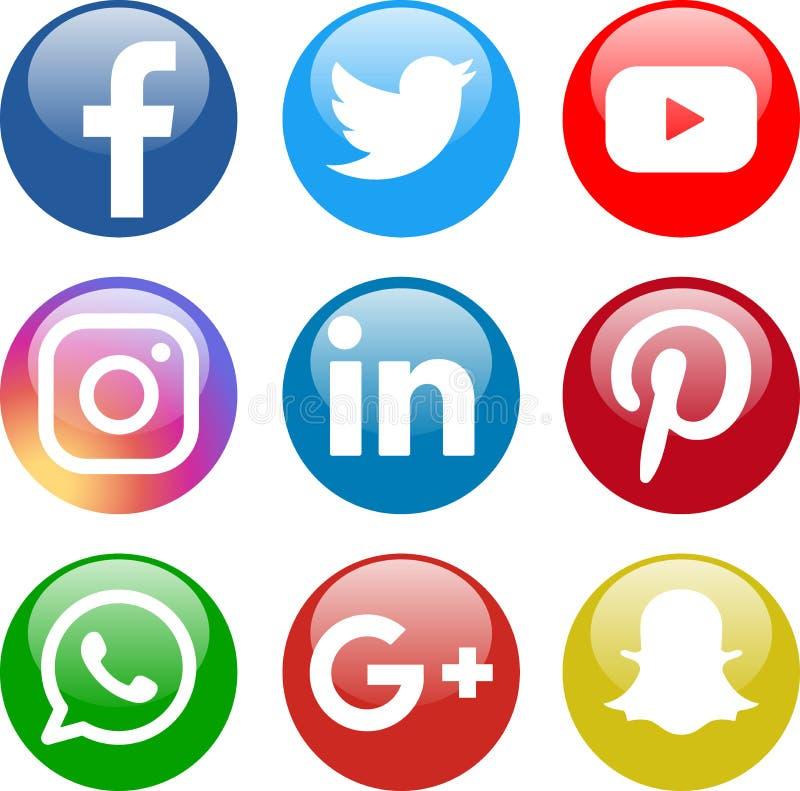 Ic?nes sociales de media illustration de vecteur