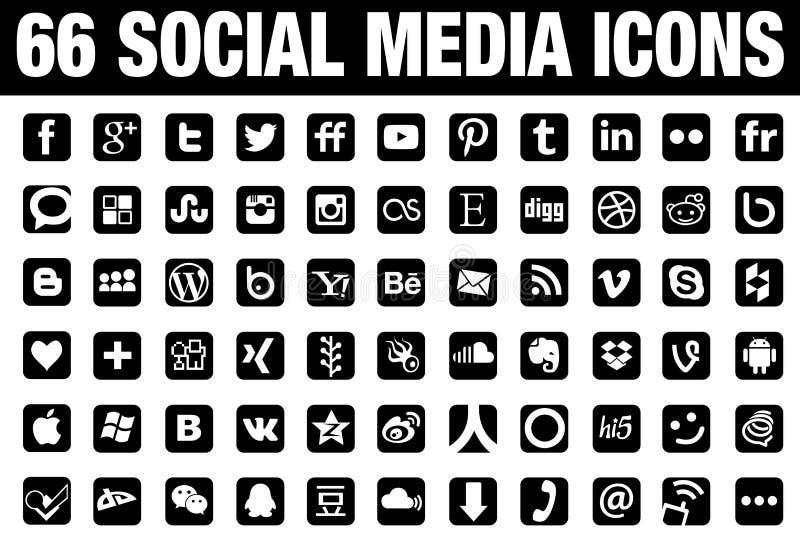 Icônes sociales de medis