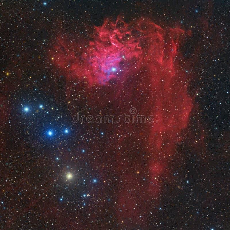 IC 405 Płomienna Gwiazdowa mgławica w gwiazdozbioru Auriga fotografia stock