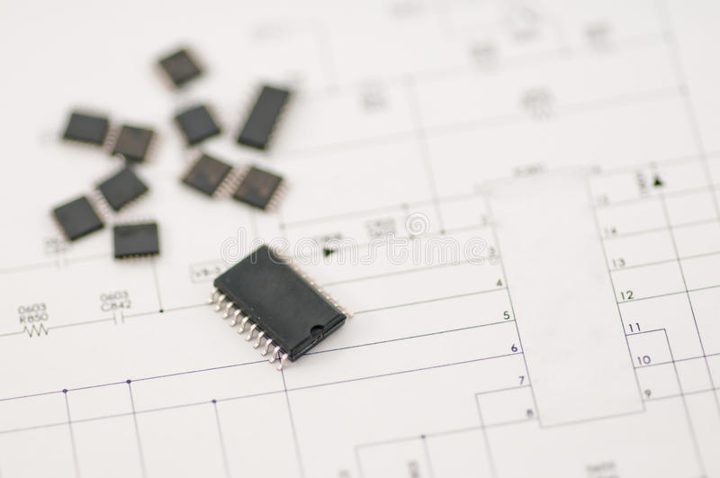 Download IC SMD component stock photo. Image of paper, techonlocgy - 17104696