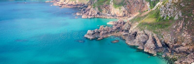 Icart punktu panoramiczny krajobraz, Guernsey zdjęcia stock