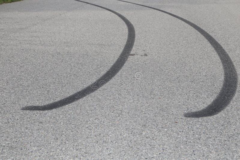 ICBC-汽车保险和刹车痕图片 免版税库存图片