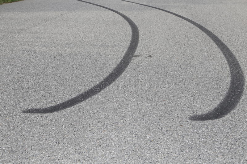 ICBC- car insurance and skid mark pictures royalty free stock image