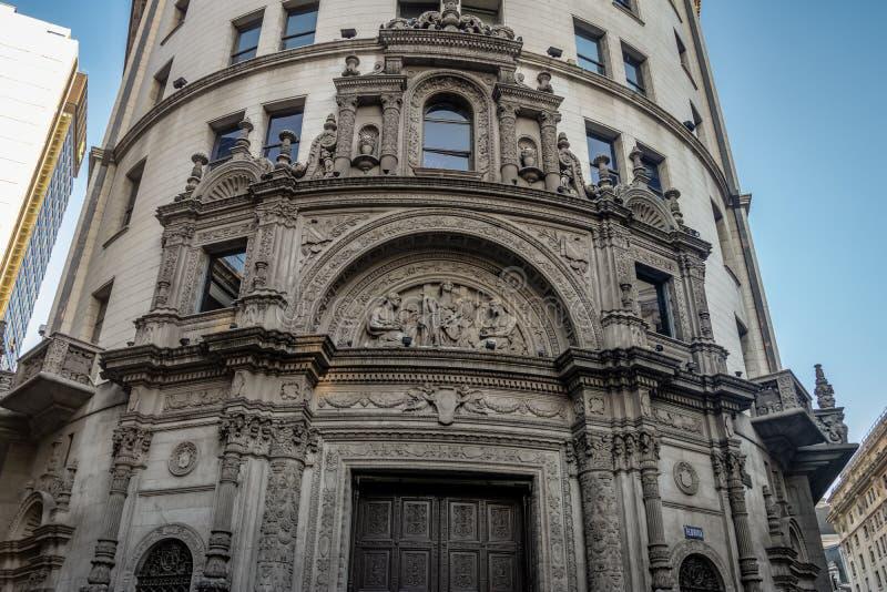 ICBC primer National Bank anterior de fachada del edificio de Boston en Calle Florida - Buenos Aires, la Argentina fotografía de archivo libre de regalías