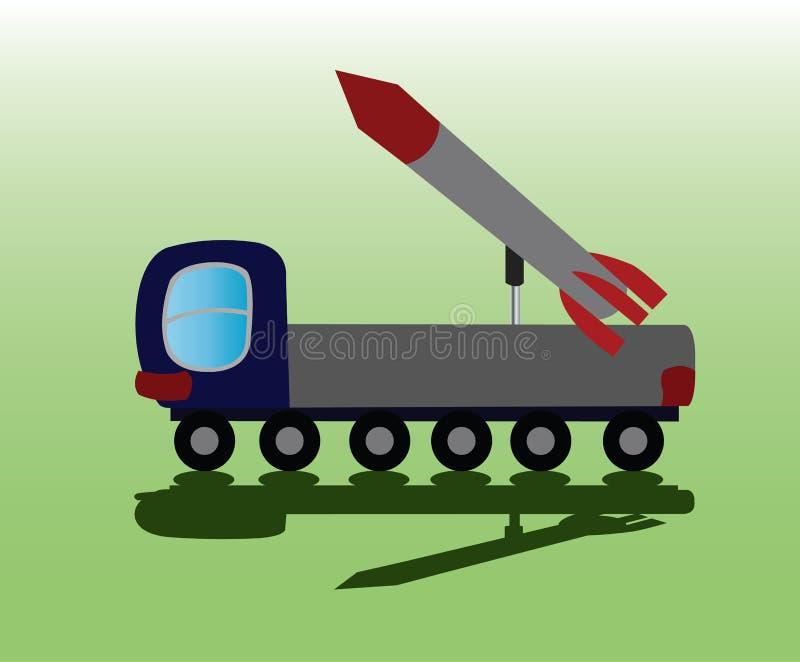 ICBM-raketlancering stock illustratie