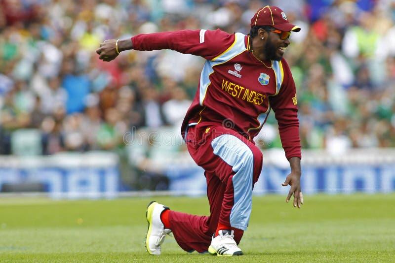 ICC Índias Ocidentais de Paquistão v do troféu dos campeões imagens de stock royalty free