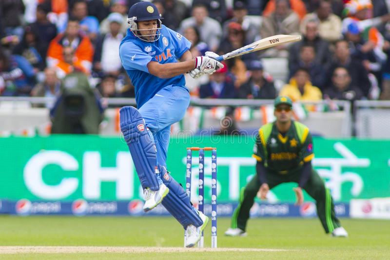 ICC Kampioenentrofee India v Pakistan stock afbeelding