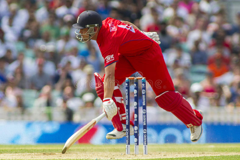 ICC Kampioenentrofee Semi Definitief Engeland v Zuid-Afrika royalty-vrije stock foto's