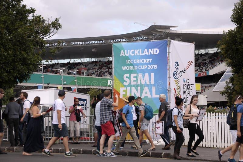 ICC krykieta pucharu świata 2015 tłumu Semis NZA vs RSA fotografia stock