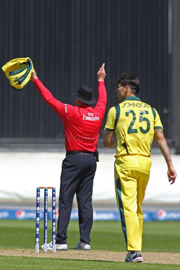 ICC partido la India v Australia del calentamiento del trofeo de los campeones fotos de archivo