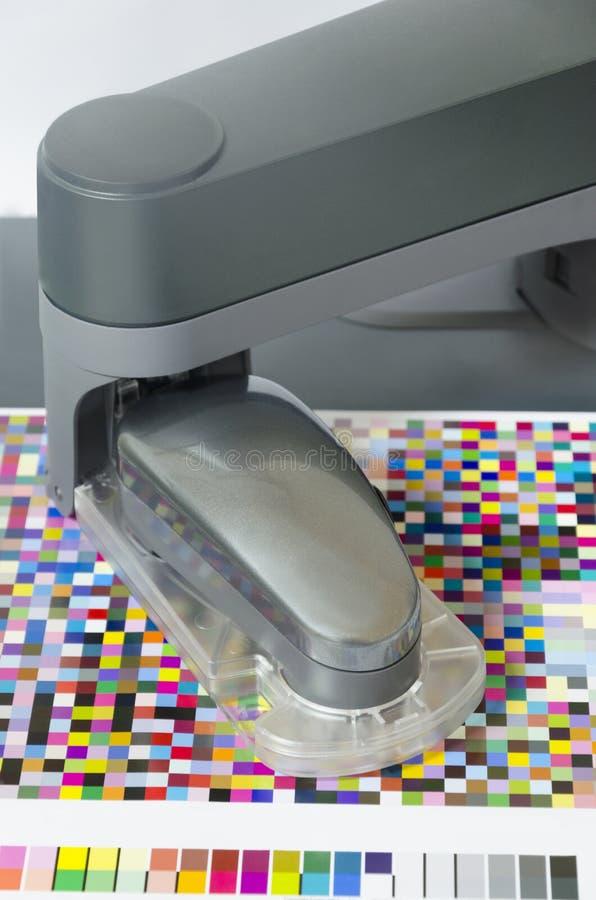 Icc profil, spectrophotometer robot obrazy stock