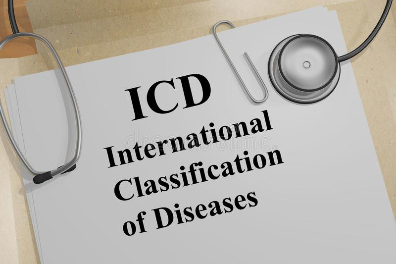 ICD - medisch concept royalty-vrije illustratie