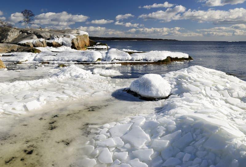 Ice age Scandinavian landscape royalty free stock photo