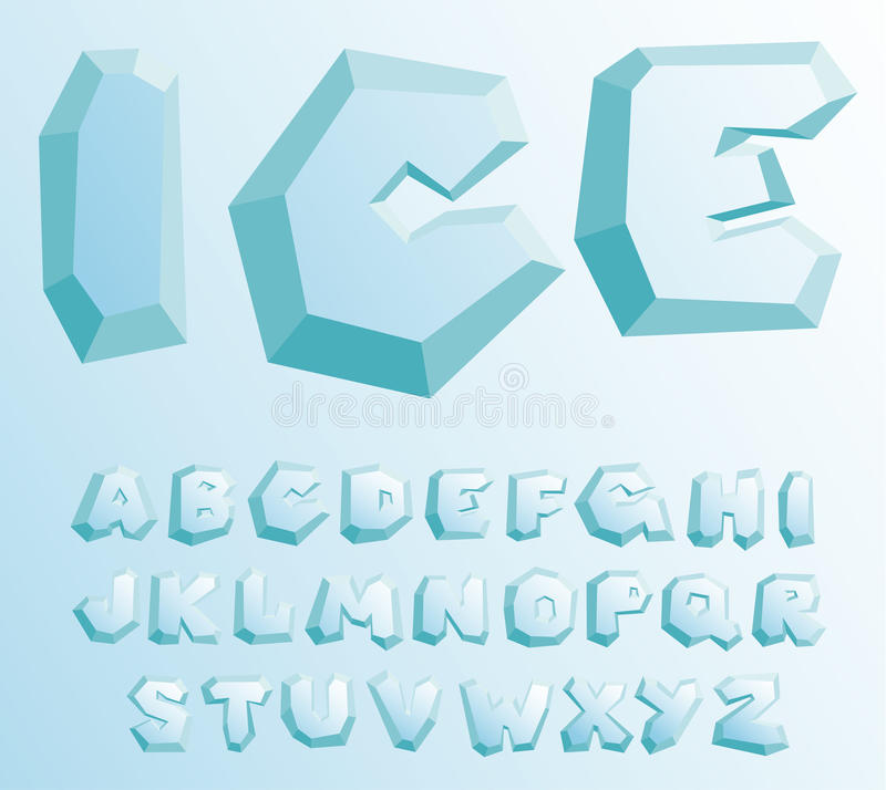 Free Ice Alphabet Royalty Free Stock Photography - 22120047