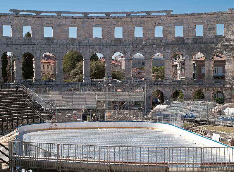 Ice In Amphitheater Royalty Free Stock Photography