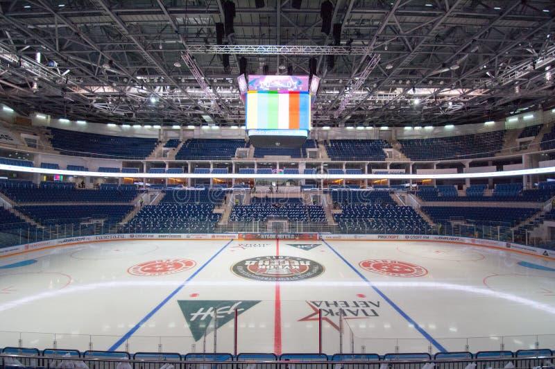 Ice arena VTB interior stock photography