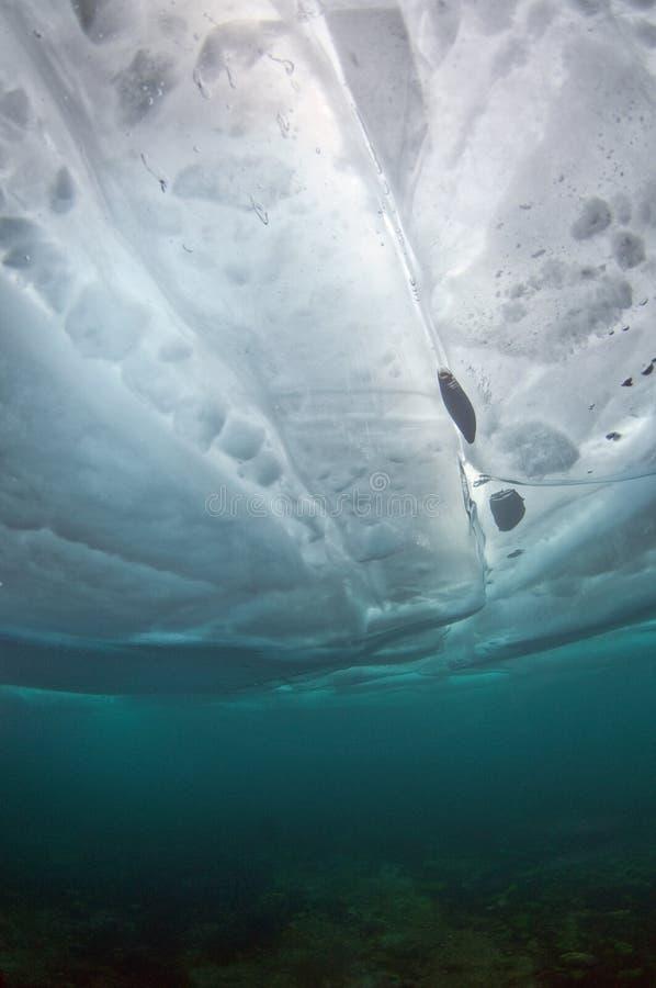 Ice Baikal. Ice diving Baikal lake Russia royalty free stock photos