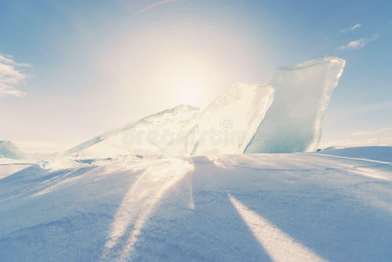 Download Ice Of Baikal Lake In Siberia Stock Photo - Image of beautiful, cool: 33547766