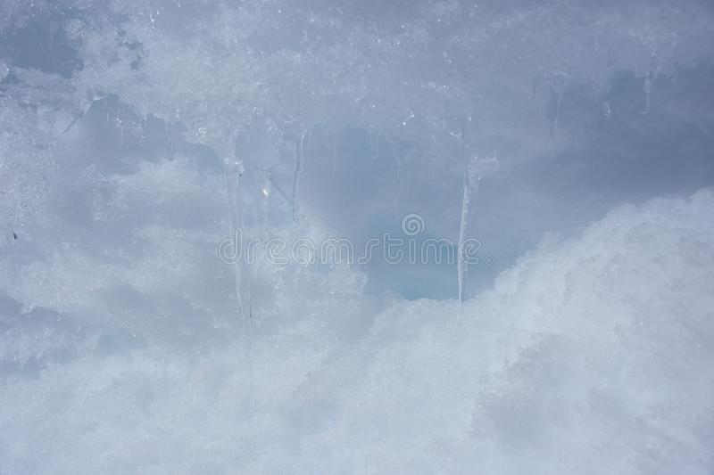 Ice at Baqueira Beret in winter stock photo