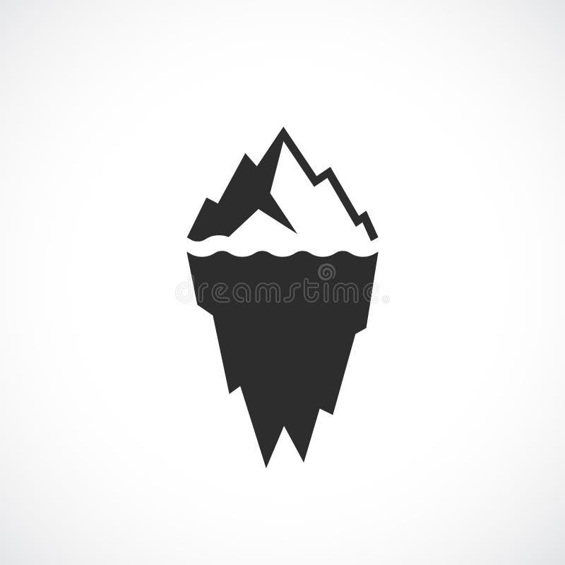 Ice berg vector icon. Illustration royalty free illustration