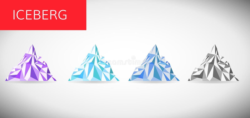 Ice berg vector illustration . Snow mountain pick low pole vector illustration
