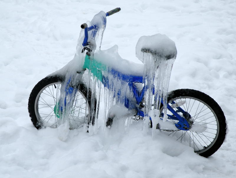 Ice Bike royalty free stock image