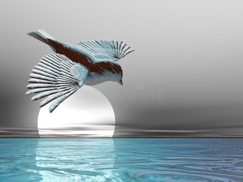 Ice Bird stock illustration