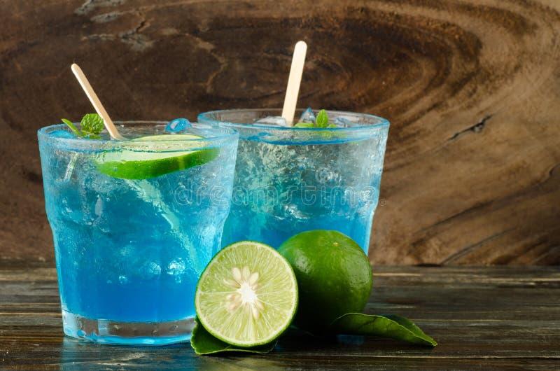 Ice blue drink stock photo