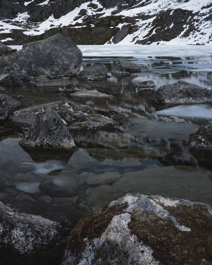 Free Ice Break Up On Mountain Lake Royalty Free Stock Image - 5700836